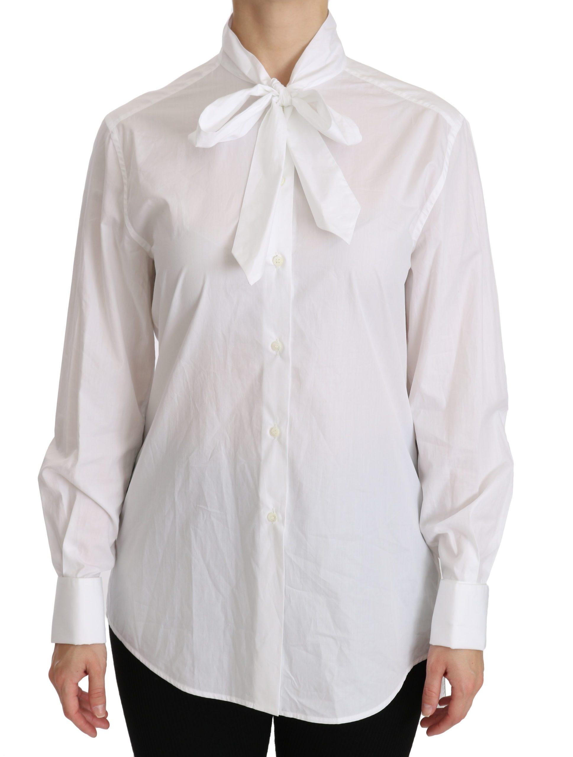 Dolce & Gabbana Women's Long Sleeve Polo Shirt White TSH4321 - IT46|XL