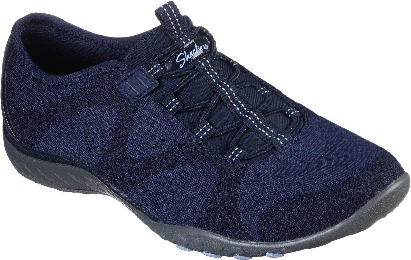 Skechers Women's Breathe-Easy Slip On Shoe Various Colours 30326 - Navy 3