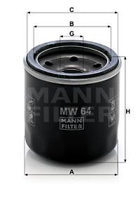 Öljynsuodatin MANN-FILTER MW 64