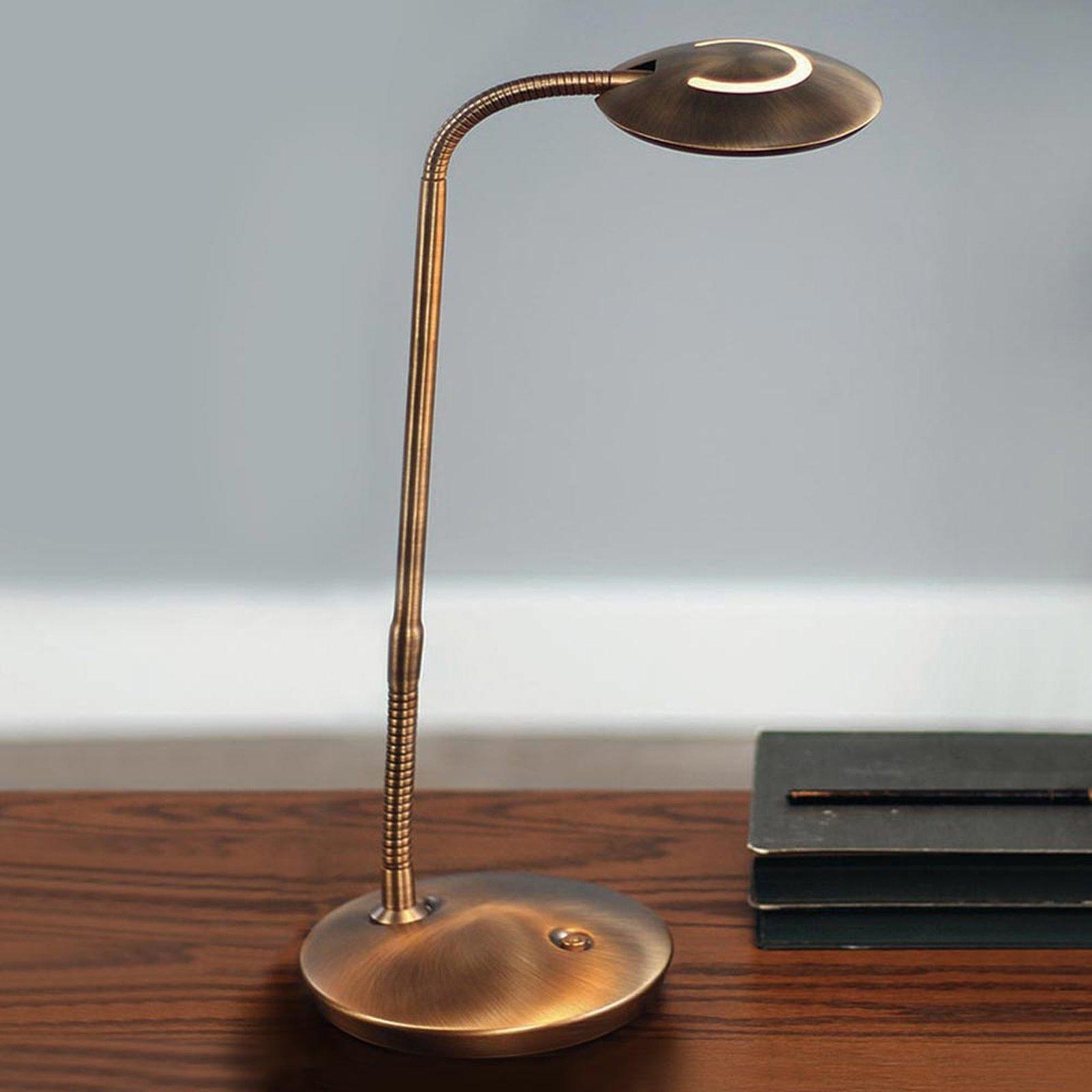 Med dimmer – LED-bordlampe Zenith bronse