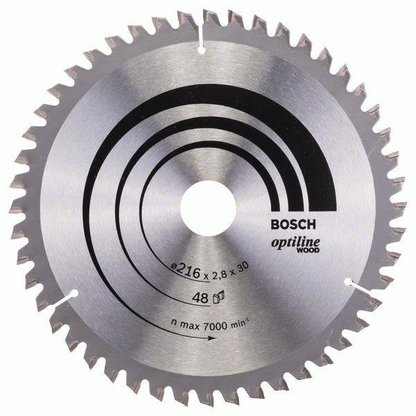 Bosch 2608640641 Optiline Wood Sagklinge 216x2,8x30mm, T48