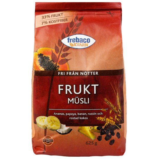 Müsli Frukt 625g - 56% rabatt