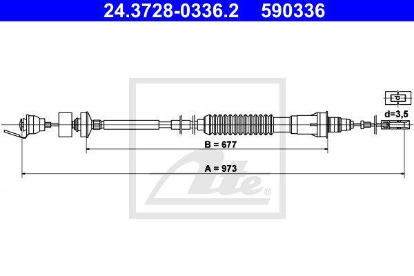 Kytkinvaijeri ATE 24.3728-0336.2