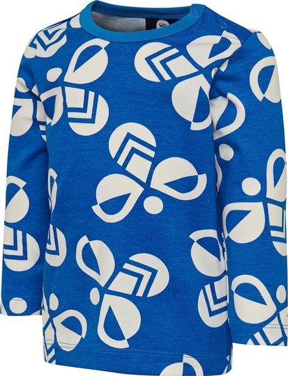 Hummel Charlie Langermet T-Skjorte, Directoire Blue, 74