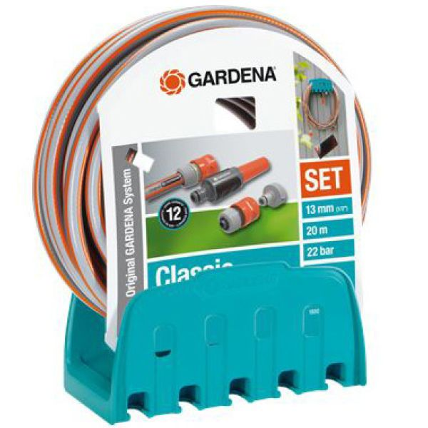 """Gardena 18005-20 Slangesett 20 m, 1/2"""", med slangehenger"""