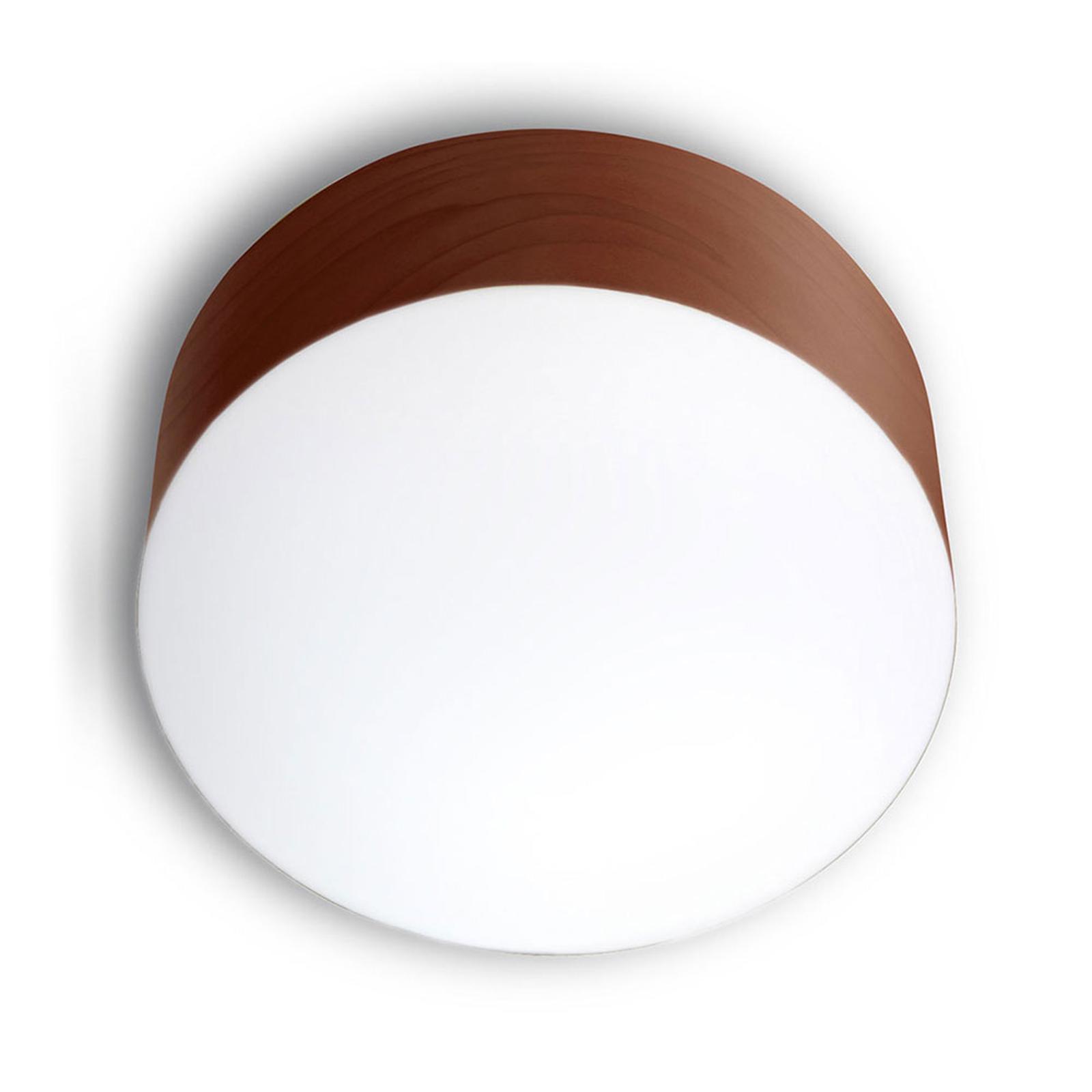 LZF Gea -kattovalaisin 0–10 V dim, Ø 20 cm, suklaa