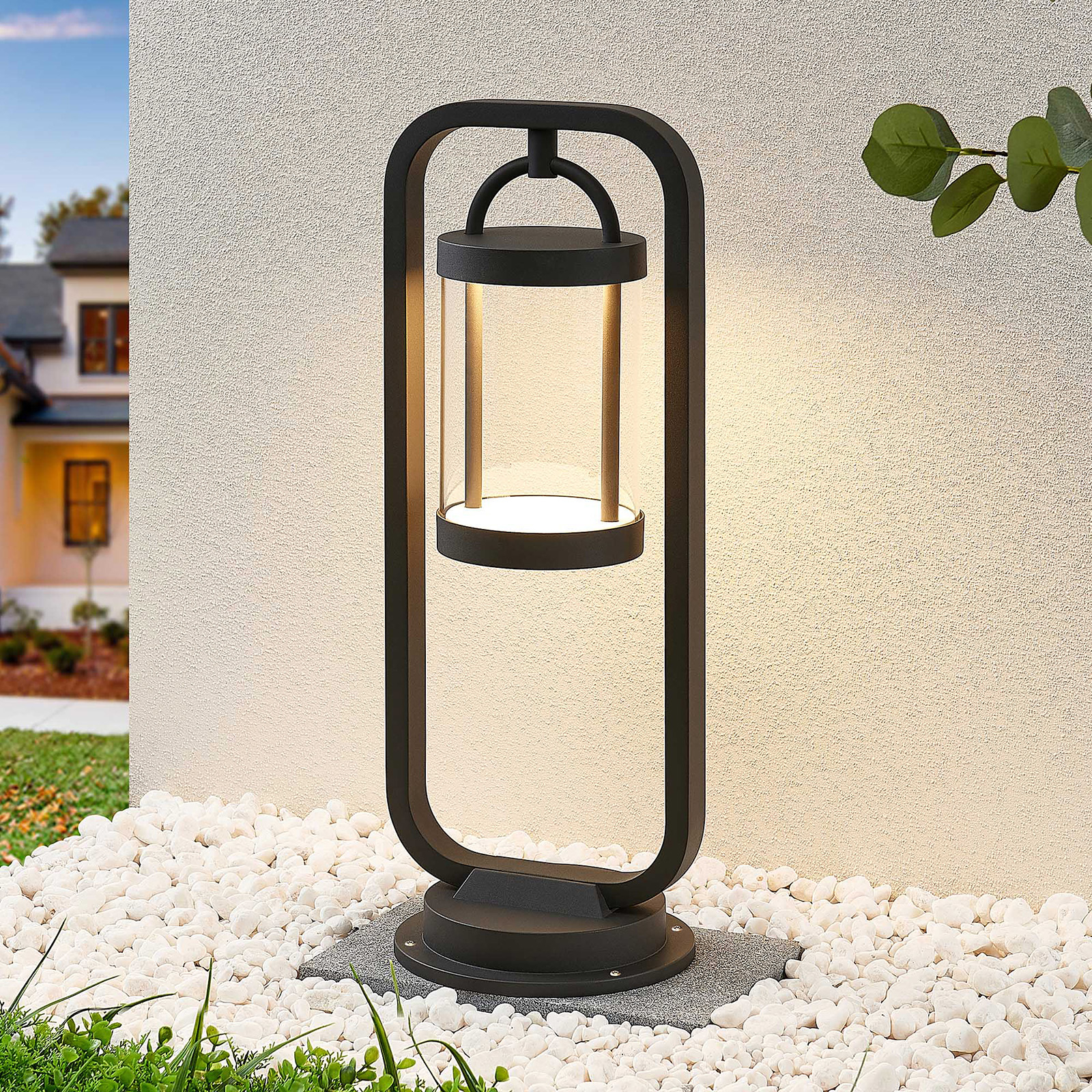 Lucande Caius LED-pollarivalaisin