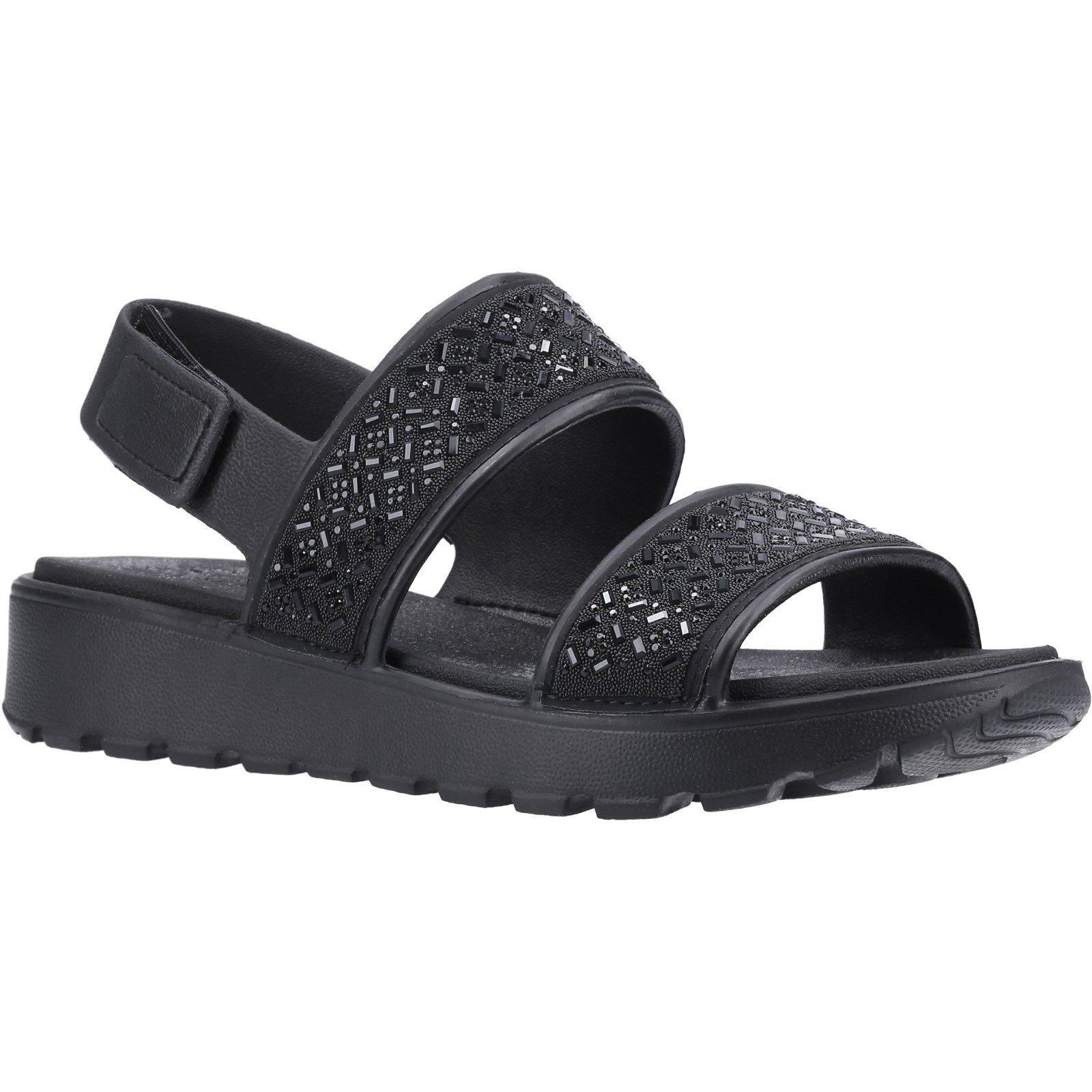 Skechers Women's Footsteps Glam Party Sandal Black 32369 - Black 6