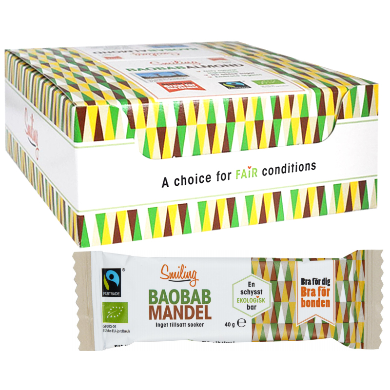 Eko Baobab- Mandelbars 20-pack - 40% rabatt