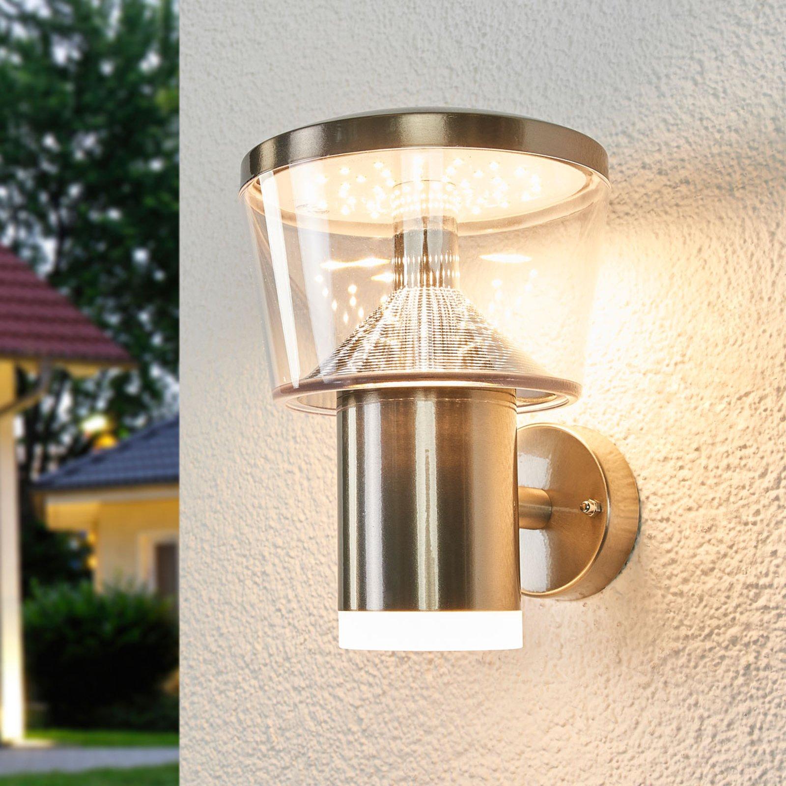 LED-utevegglampe Antje i rustfritt stål