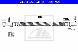 Jarruletku, Taka-akseli, MERCEDES-BENZ S-KLASS [W220], S-KLASS Coupé [C215], 220 420 01 48, A 220 420 01 48