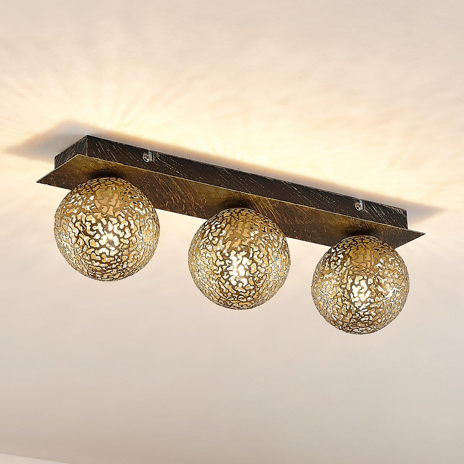Lucande Evory taklampe, kantet, 3 lyskilder