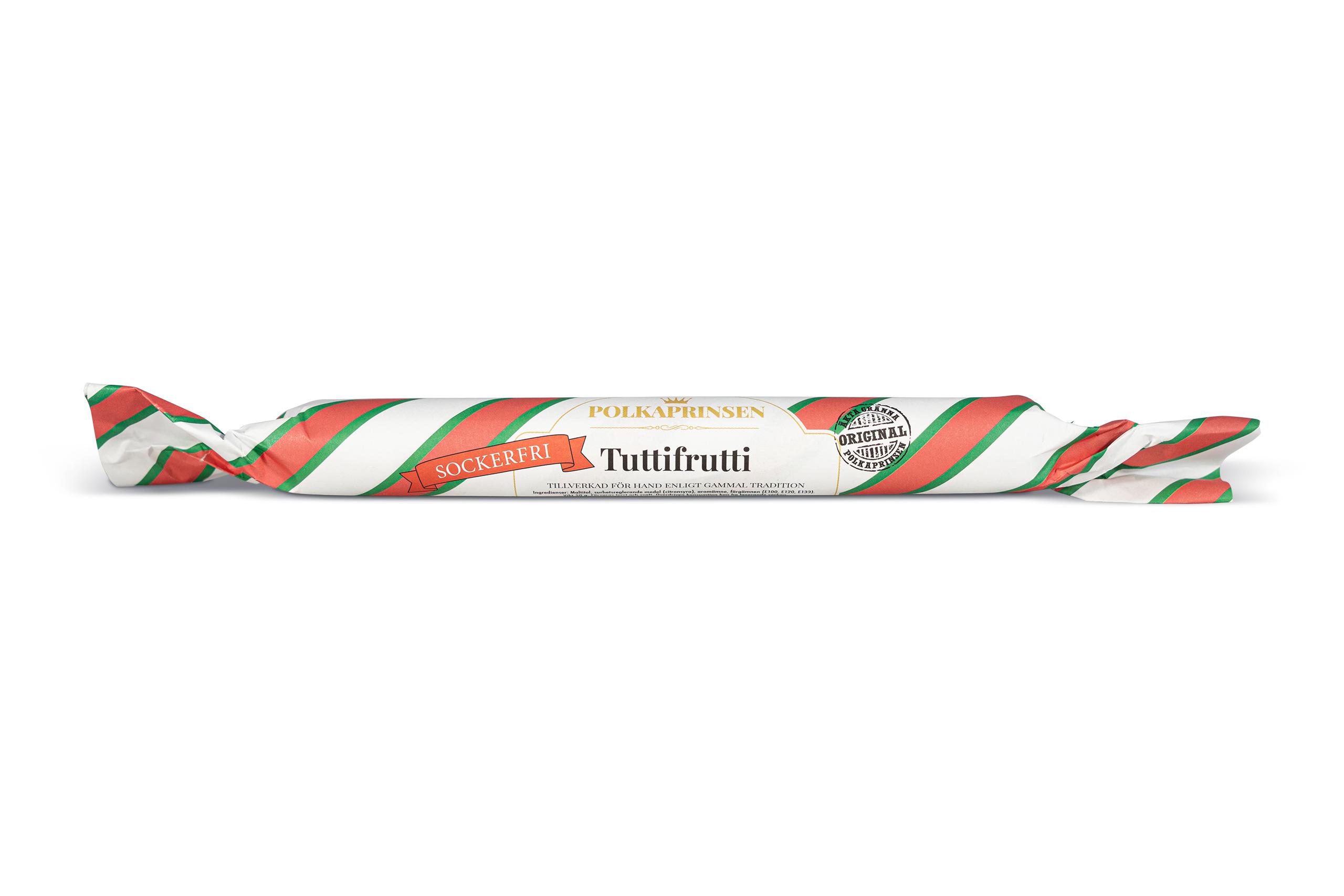 Polkaprinsen Sockerfri Polkagris - Tutti Frutti 50g