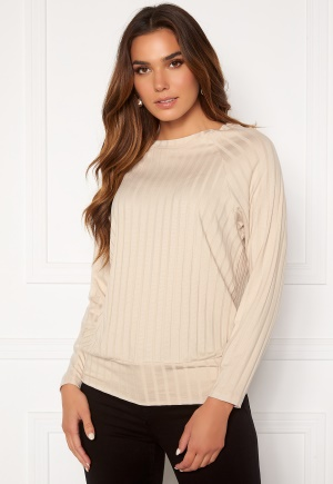 Happy Holly Thea cuff top Light beige 52/54