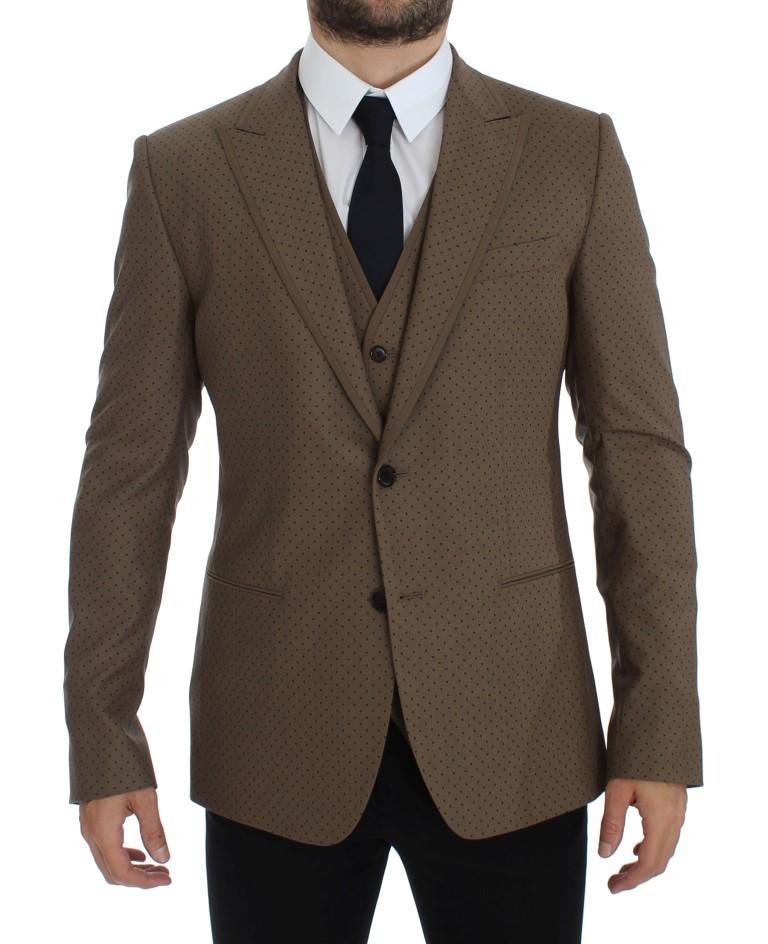Dolce & Gabbana Men's Polka Wool Stretch Blazer Green GTT10071 - IT52 | XL