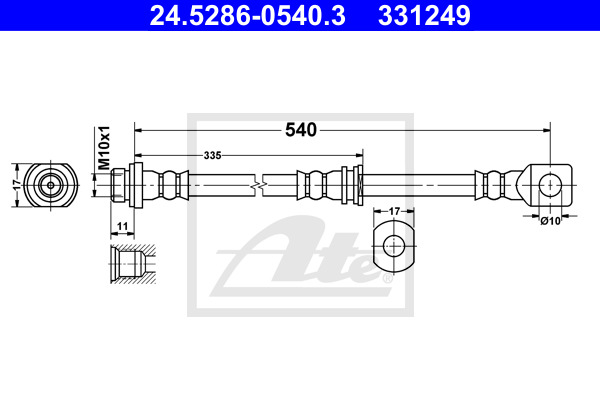 Jarruletku ATE 24.5286-0540.3