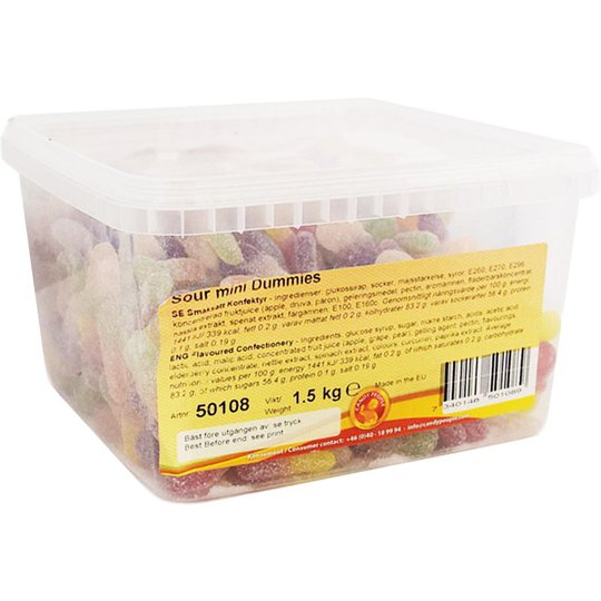 "Makeislaatikko ""Sour Mini Dummies"" 1,5kg - 62% alennus"
