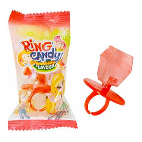 Ring Pop Diamant Jordgubb Storpack - 2 kg