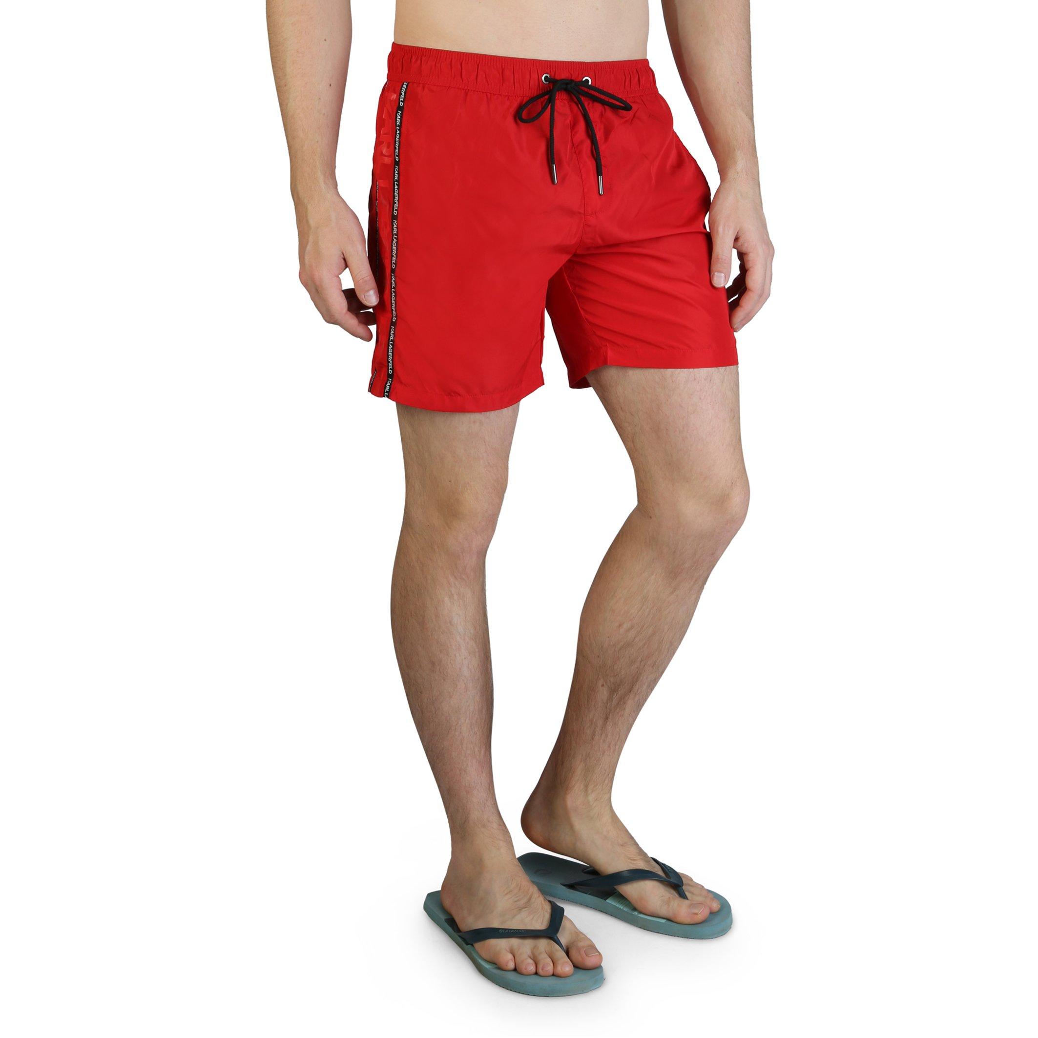 Karl Lagerfeld Men's Swimwear Various Colours KL21MBM03 - red S