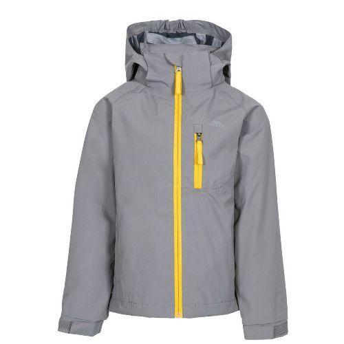 Trespass Kid's Waterproof Jacket Various Colours Overwhelm - Grey 5-6 Years