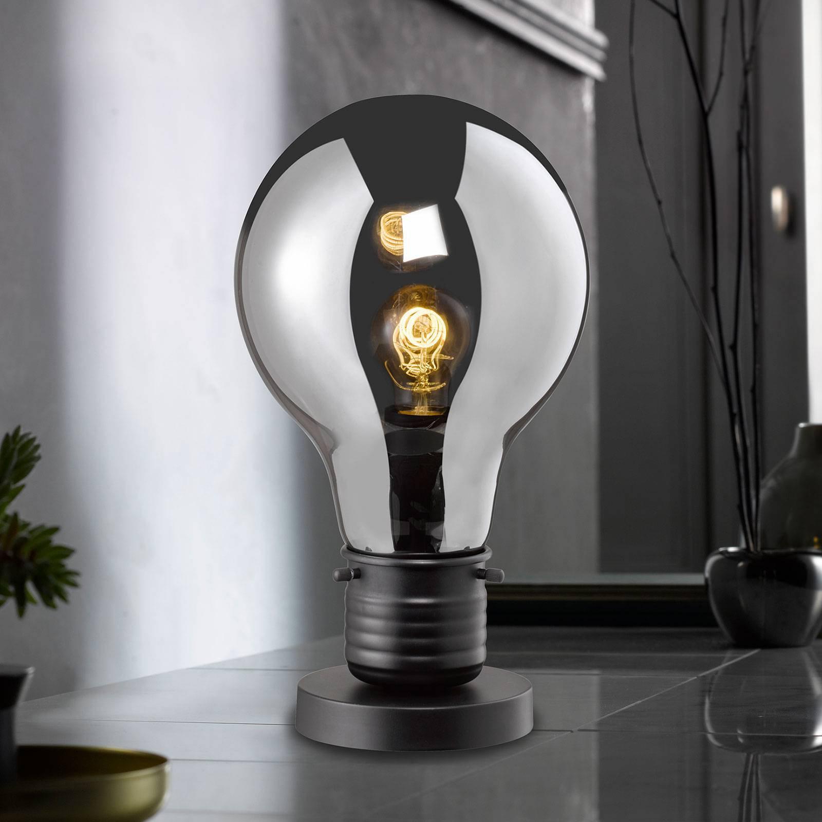 Bordlampe Louis med farget glasskjerm, 37 cm