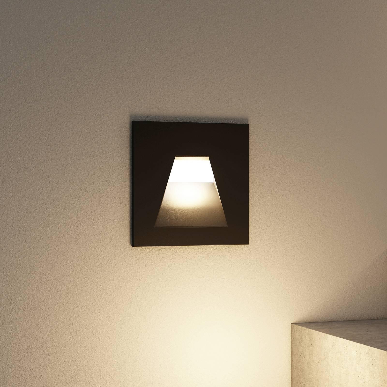 Arcchio Lasca LED-innfellingslampe, svart