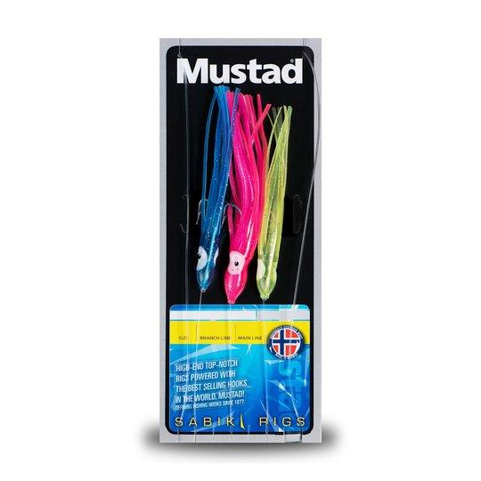 Mustad 3 Coloured Squid Rig tackel