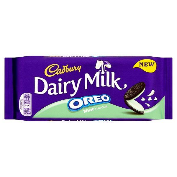 Cadbury Dairy Milk Oreo Mint Chocolate Bar 120g
