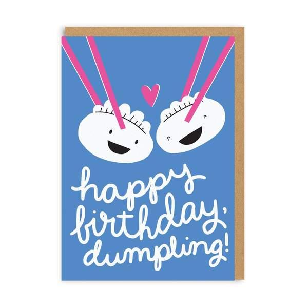 Couple Dumplings Greeting Card