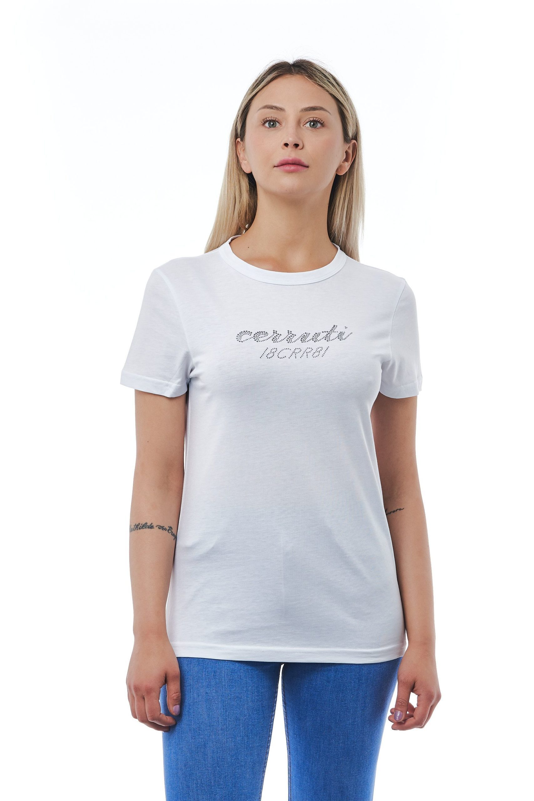 Cerruti 1881 Women's Bianco T-Shirt White CE1410231 - M