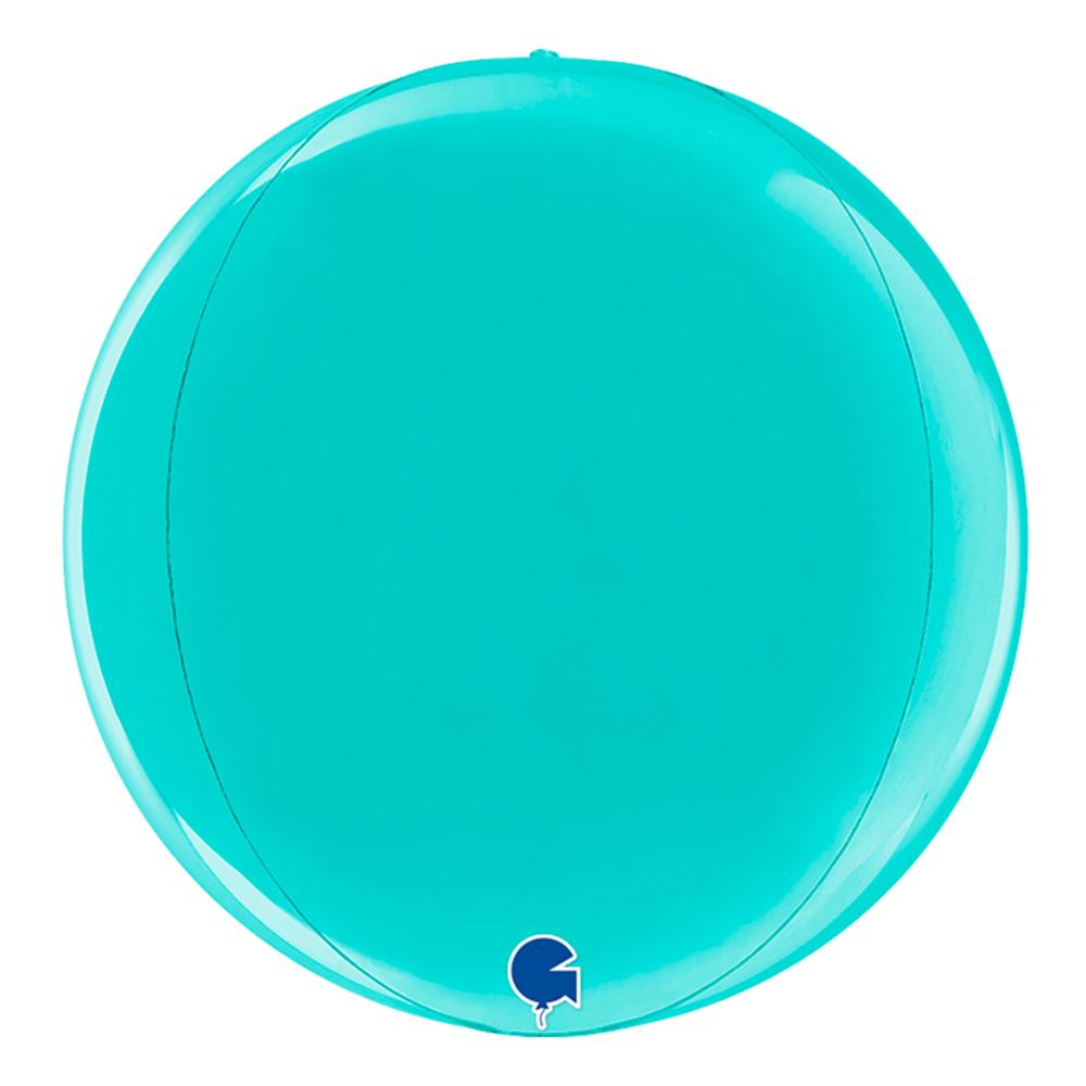 Folieballong Globe Rund Tiffany - 1-pack