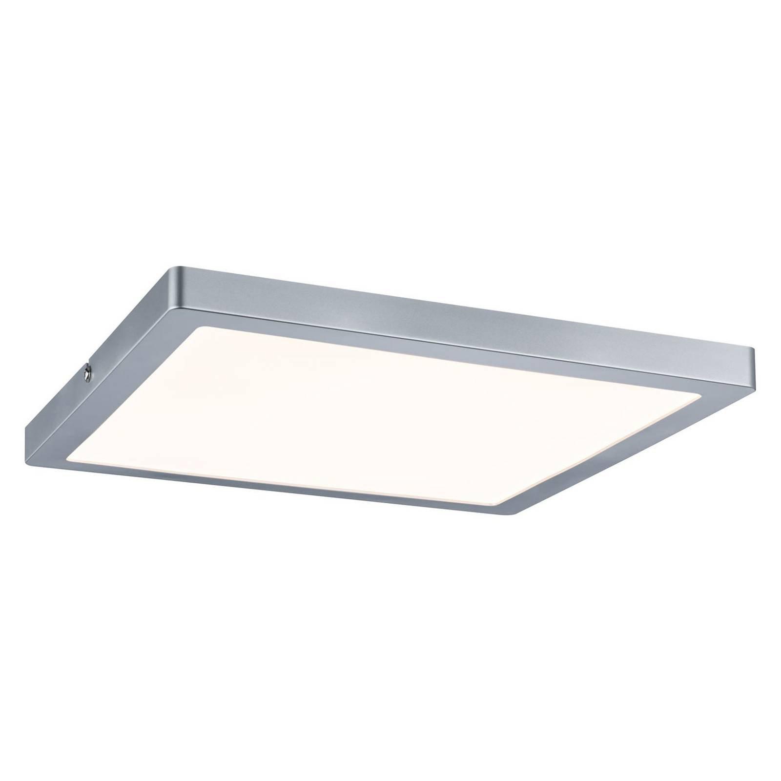 Paulmann Atria LED-taklampe 30 x 30 cm krom matt