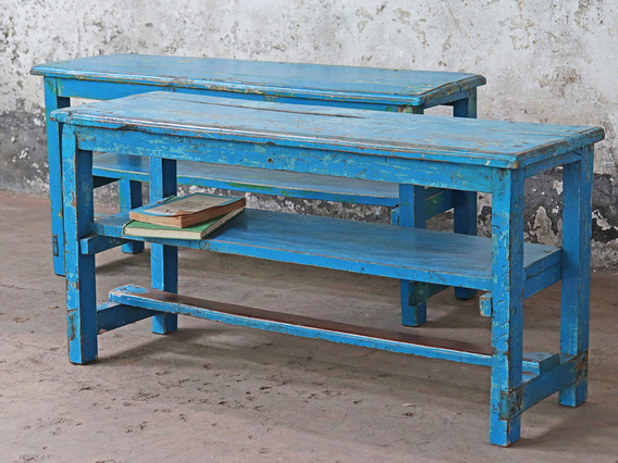 Vintage Blue Bench Blue