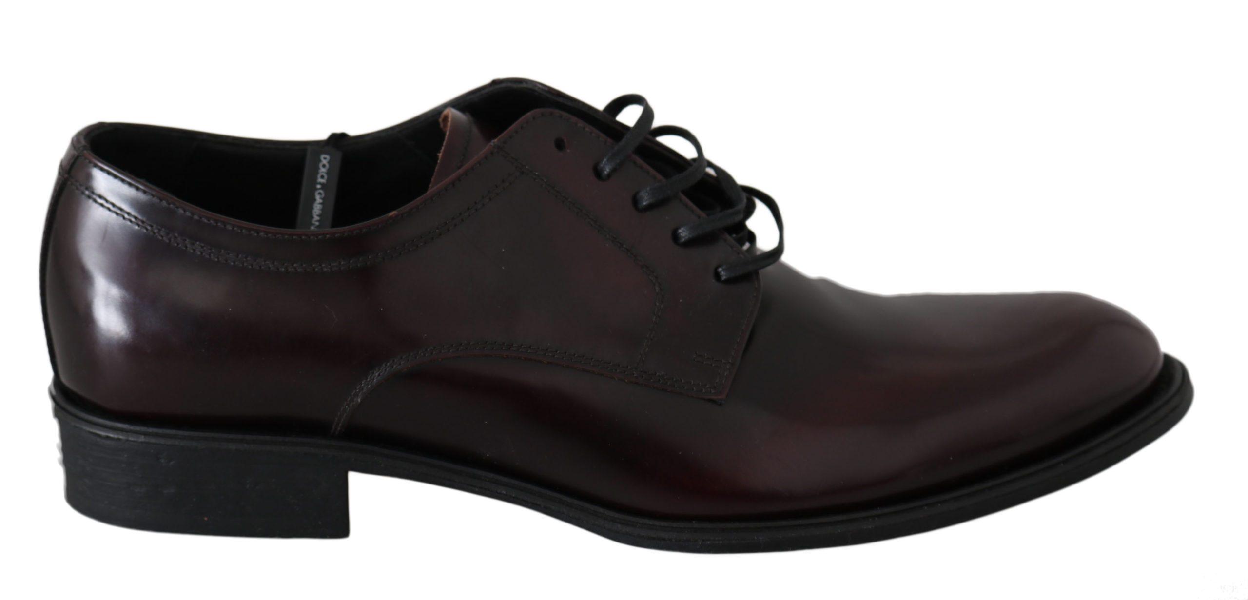 Dolce & Gabbana Men's Leather Dress Oxford Shoe Bordeaux MV2488 - EU40/US7