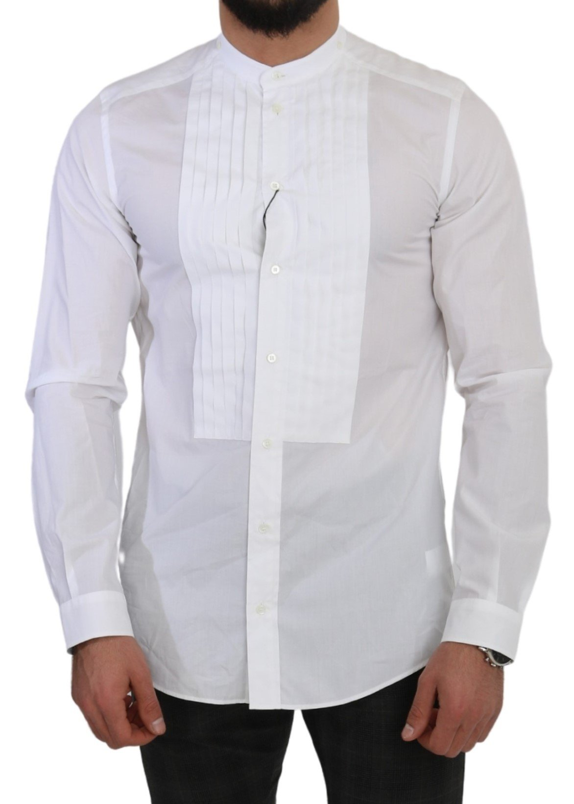 Dolce & Gabbana Men's Cotton Formal MARTINI Shirt White TSH5017 - IT39 | S