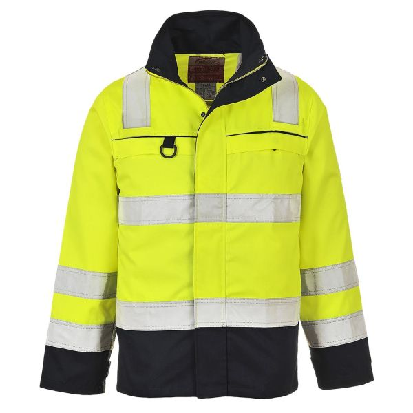 Portwest FR61 Jacka Hi-Vis gul/marinblå, flamskyddad S