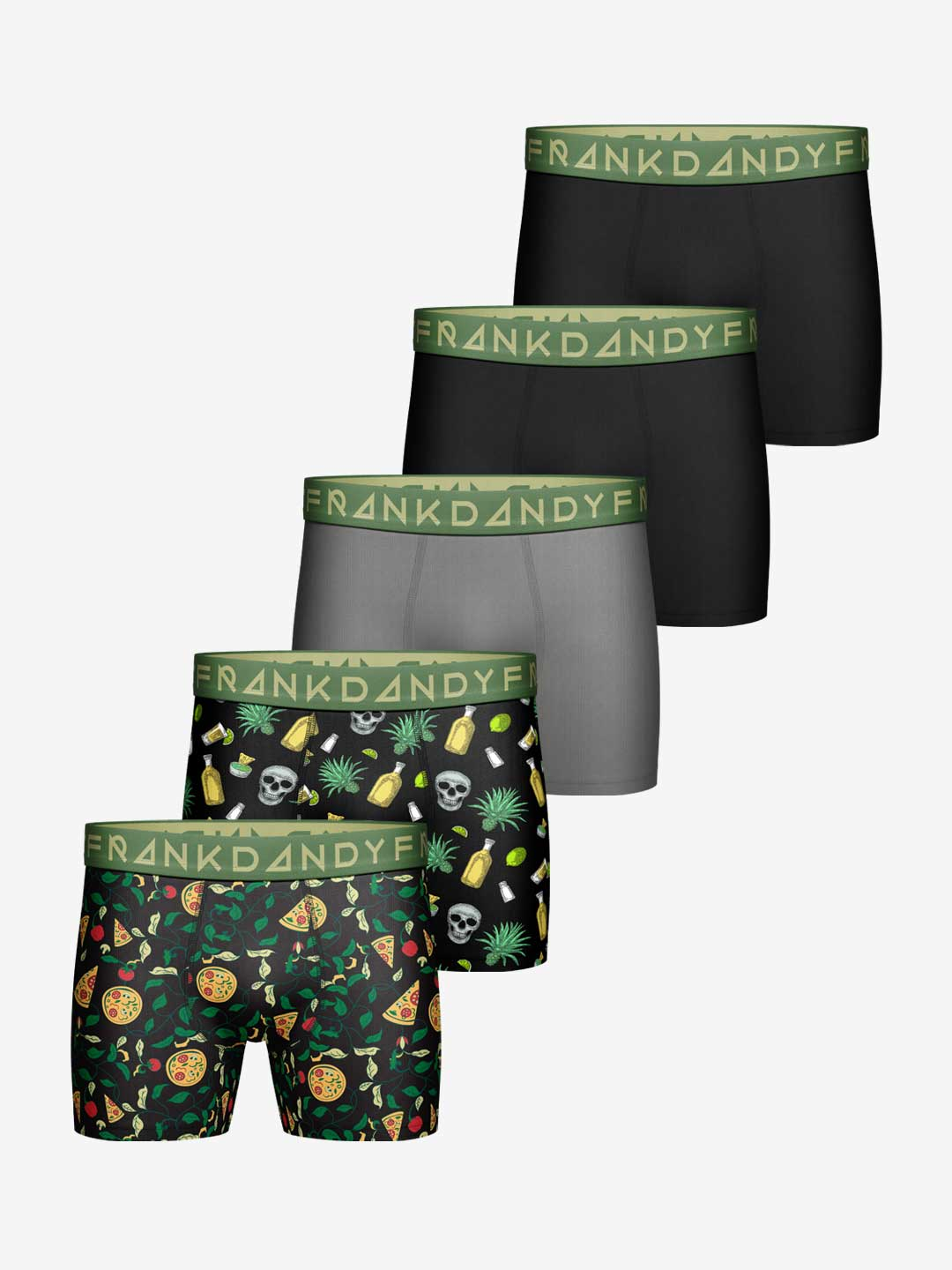 Frank Dandy 5-Pack Pizza Party Boxer