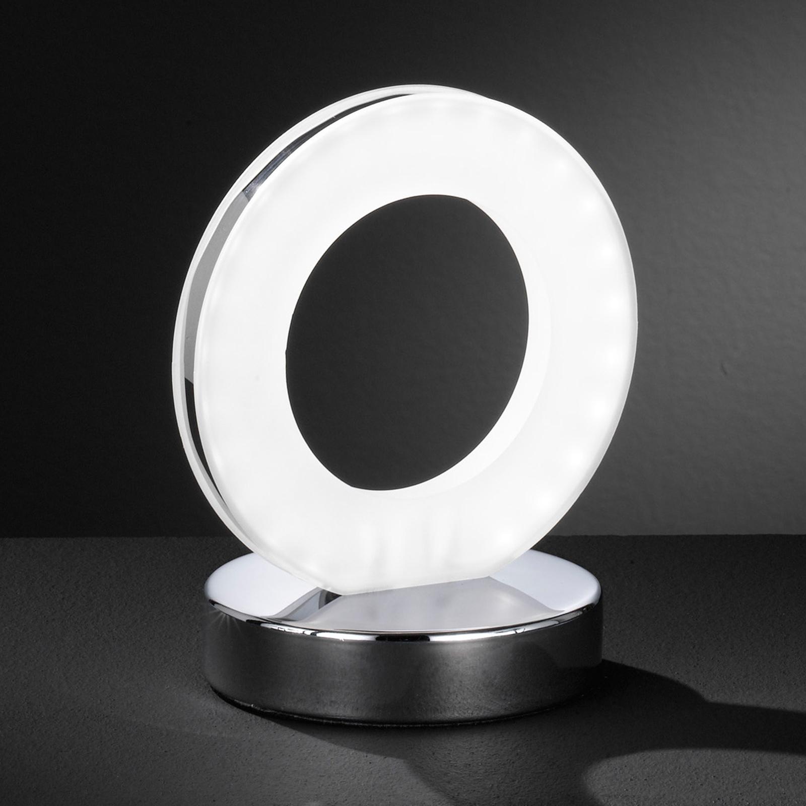 Renkaanmuotoinen LED-pöytälamppu Ole