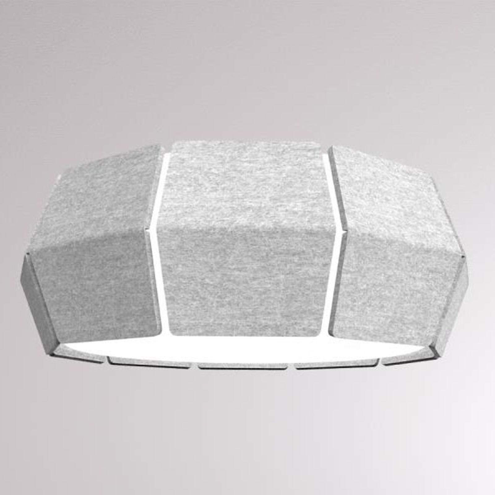 LOUM Decafelt -LED-kattovalaisin Ø 54 cm harmaa