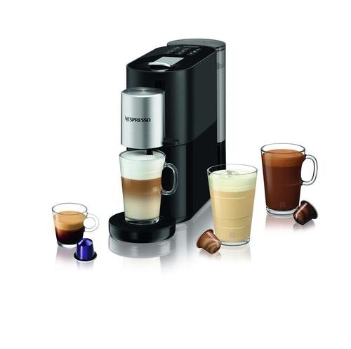 Nespresso Atelier, 1,0 L. Black Kapselmaskin - Svart/silver