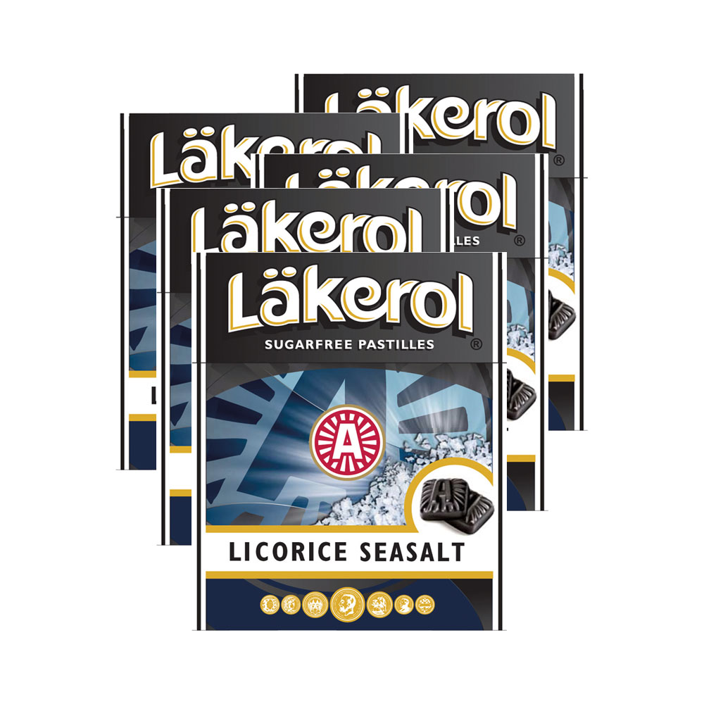 LÄKEROL SEASALT LICORICE - 5 st