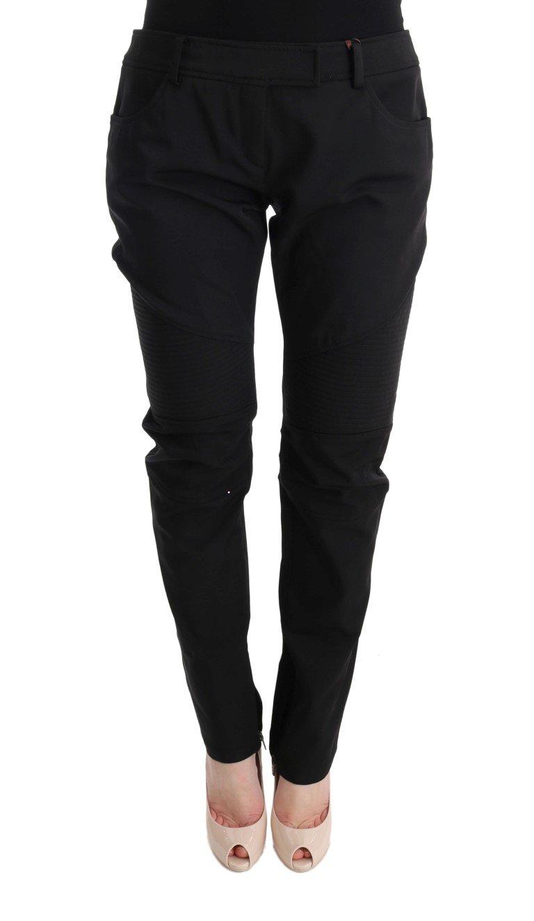 Ermanno Scervino Women's Slim Fit Trouser users Black SIG30313 - IT48|XXL