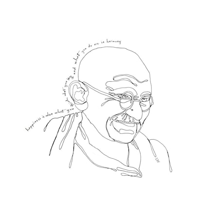 Poster LW Icons Mahatma Ghandi