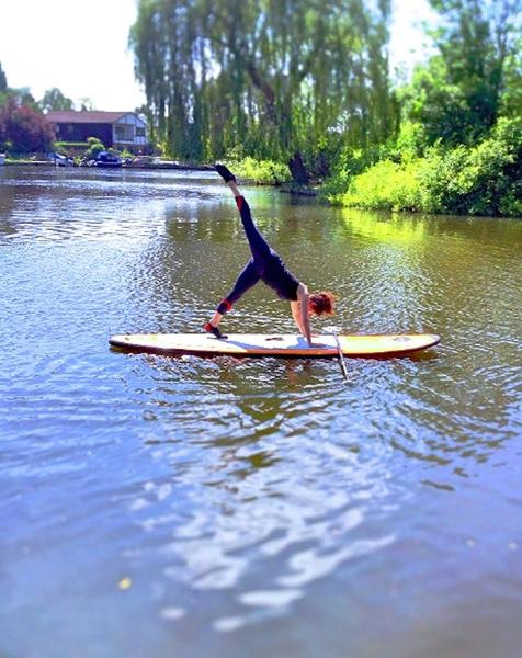 Paddleboarding Yoga for Two