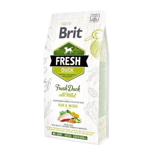 Brit Fresh Duck with Millet Active Run & Work (2,5 kg)