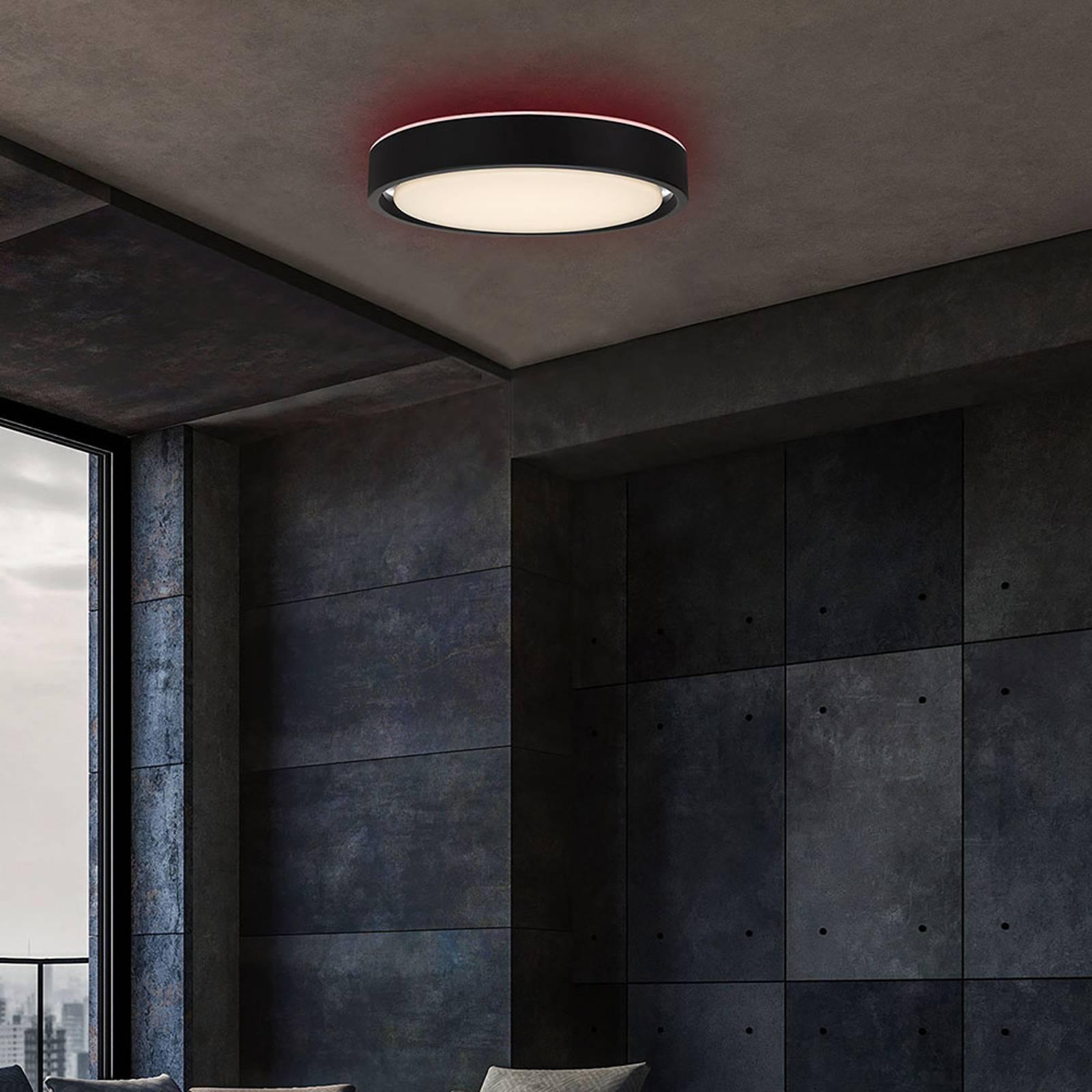 LED-kattovalo Talena M RGB CCT, tunnistin, musta