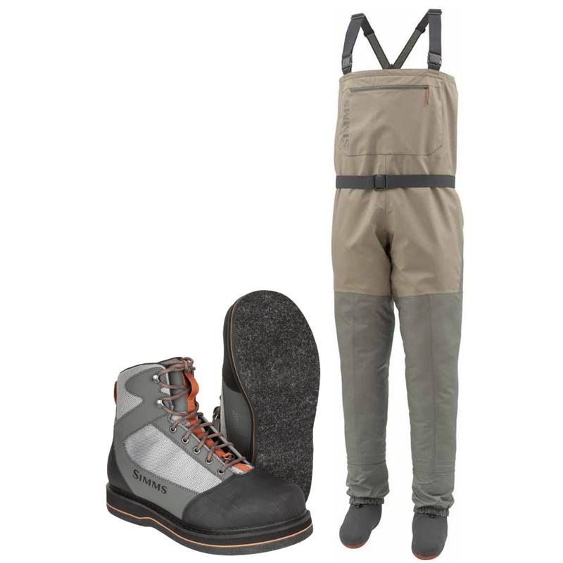 Simms Tributary Stockingfoot Vader & sko med filtsåle, Striker Grey
