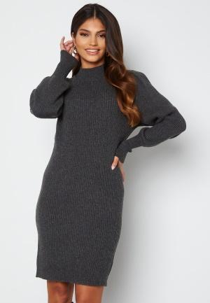 ONLY Katia L/S Dress Knit Dark Grey Melange M