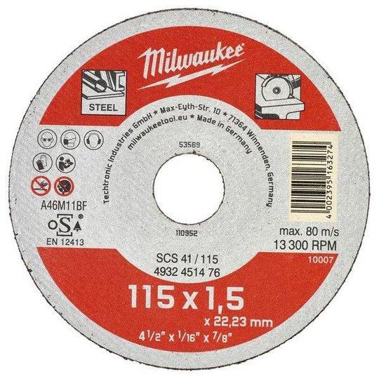 Milwaukee SCS 41 Contractor Katkaisulaikka 115x1,5mm