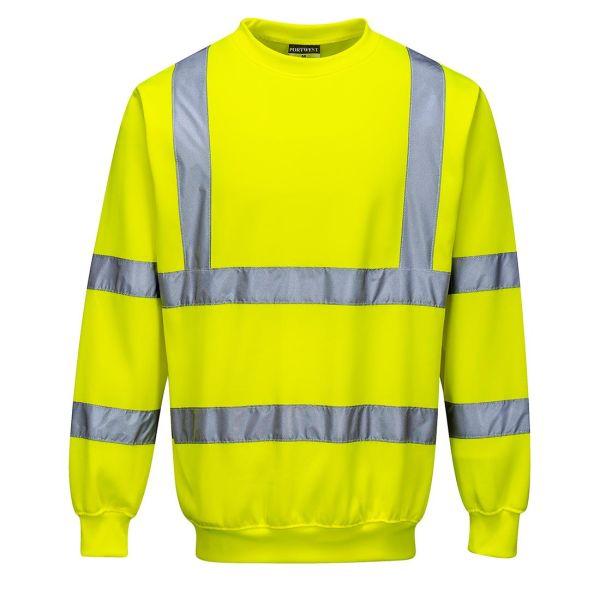 Portwest B303 Sweatshirt Hi-Vis gul XS